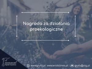 Nagroda za działania proekologiczne