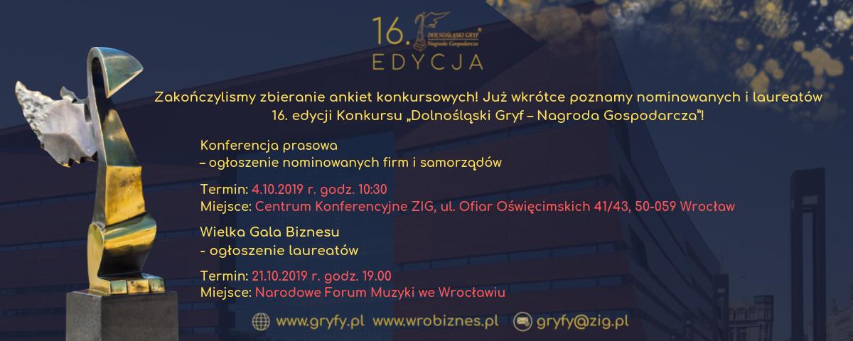 konferencja prasowa - nominacje do 16. Edycji Dolnośląskich Gryfów